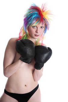 Free The Girl The Boxer Royalty Free Stock Images - 3803959