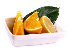 Free Oranges, Lemon, Leaf Stock Photography - 3803992