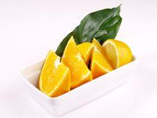 Free Oranges, Lemon, Leaf Stock Photography - 3804002