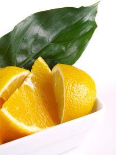 Free Oranges, Lemon, Leaf Stock Photo - 3804010