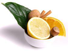 Free Oranges, Lemon, Cinnamon Stock Photography - 3804062