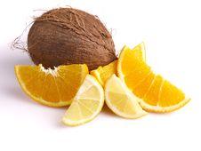 Free Oranges, Lemon, Coconut Stock Photography - 3804072
