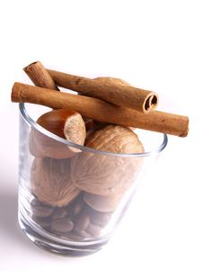 Cinnamon, Nut, Walnut Stock Photos