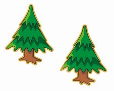 Free Christmas Tree Sticker Royalty Free Stock Photos - 3804188