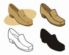 Free Male Shoe 2 Stock Image - 3804191