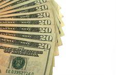 Free Twenty Dollar Bills Fanned Out Stock Photos - 3804843