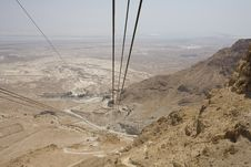View Of The Way Down From A Cable Car Royalty Free Stock Photography