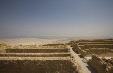 Free Ruins At Masada Royalty Free Stock Photos - 3806408