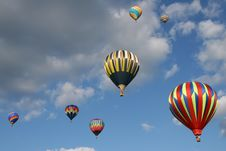 Free Seven Hot Air Balloons Royalty Free Stock Images - 3806409