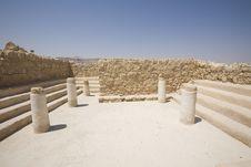 Free Ruins Of Synagogue At Masada Royalty Free Stock Image - 3806436