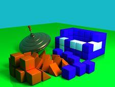 Free Whirligig With Bricks Royalty Free Stock Photo - 3806555