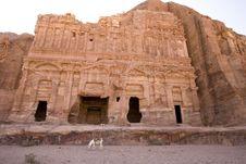 Palace Tomb At Petra Jordan Royalty Free Stock Photo