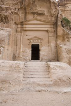 Free Facade At Little Petra Royalty Free Stock Images - 3806879
