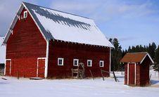 Free Idaho Red Barn 2 Stock Image - 3807021