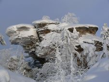 Snow-clad Mountain Royalty Free Stock Images
