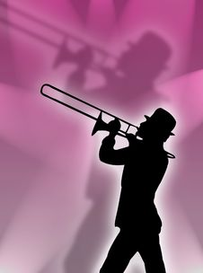 Free Trumpet In The Lights Royalty Free Stock Photo - 3807275