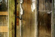 Free Old Wooden Door Royalty Free Stock Photos - 3807338