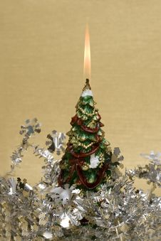 Free Festive New-year Candle Royalty Free Stock Photos - 3808768