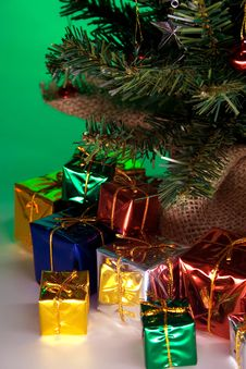 Free Christmas Presents Left Stock Images - 3809144