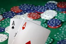 Free Pocket Aces Royalty Free Stock Photos - 3809568