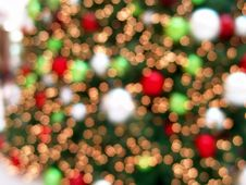 Free Christmas Tree Lights Abstract Background Stock Images - 3809754