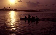 Sunset At Marang Stock Image