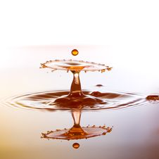 Free A Small Color Waterdrops Fall On Water Surface And Royalty Free Stock Photos - 38065508