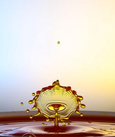 Splashing Water Drops Royalty Free Stock Photography