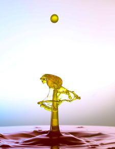 Splashing Water Drops Royalty Free Stock Photography