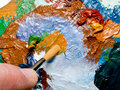 Free Paint Brush And Palette Stock Photo - 3817010