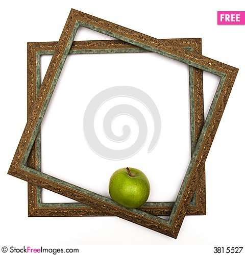 Free Green Apple In Green Scopes Royalty Free Stock Photography - 3815527