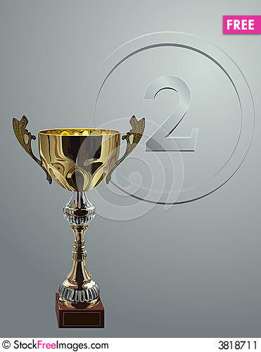 Free Competition Cup On Silver Background Stock Image - 3818711