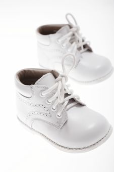 Little White Shoes Royalty Free Stock Photos