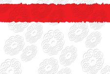 Red And White Background With Stock Image
