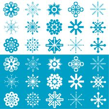Free Snowflakes Vector Royalty Free Stock Photos - 3811028