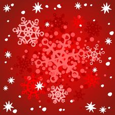 Free Red Snowflakes Background Royalty Free Stock Image - 3811186