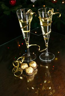 Free Champagne Glasses Stock Photography - 3811332
