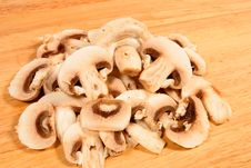 Cut Mushrooms Royalty Free Stock Photo