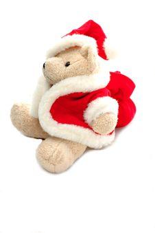 Free Teddy Bear In Santa Claus Dress Stock Image - 3812221