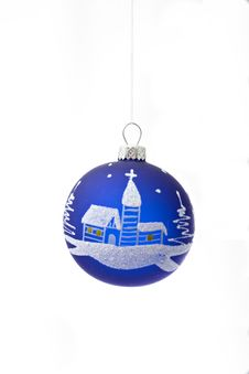 Free Blue Christmas Balls Royalty Free Stock Image - 3812276