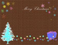 Brown Christmas Card Stock Photos
