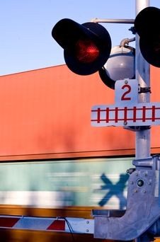 Free Train Crossing 1 Royalty Free Stock Images - 3812899