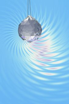 Free Crystal Ball On A Fancy Background Royalty Free Stock Photography - 3812987