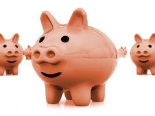 Free Piggy Bank Royalty Free Stock Photos - 3813078