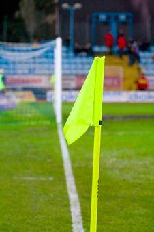 Soccer Theme-corner Flag Stock Photos