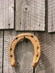 Free Rusty Horseshoe Royalty Free Stock Images - 3813979