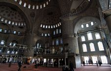 Interior Of The Blue Mosque Royalty Free Stock Photography