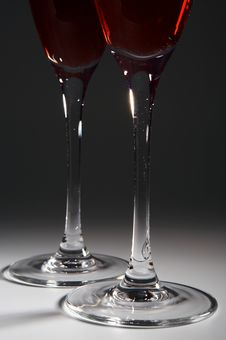 Free Glasses With Red Wine Stock Photos - 3814173