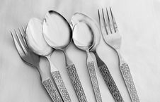 Free Spoons And Forks Stock Photo - 3814830