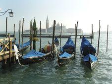 Free Gondolas In Venice Stock Images - 3815354